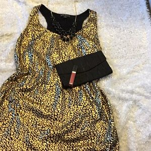 Sassy Forever 21 gold leopard tank dress